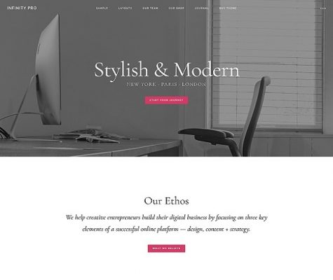 studiopress infinity pro wordpress theme
