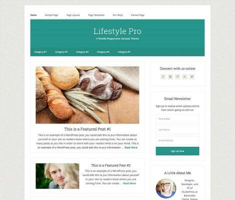 studiopress lifestyle pro wordpress theme