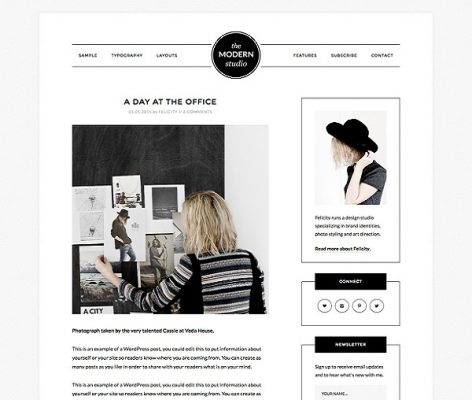 studiopress modern portfolio pro wordpress theme