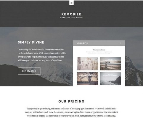 studiopress remobile pro wordpress theme