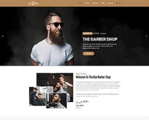 Premium Moto Theme Barber Shop