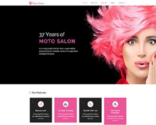 Premium Moto Theme Beauty Salon