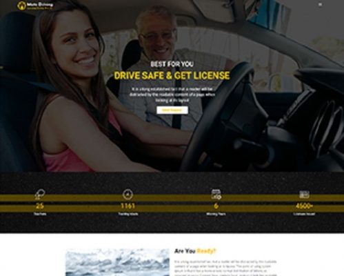 Premium Moto Theme Driving School