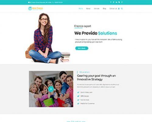Premium Moto Theme Educational Finance