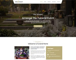 Premium Moto Theme Funeral Services
