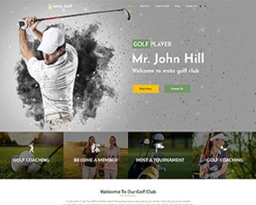 Premium Moto Theme Golf Club