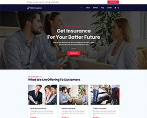 Premium Moto Theme Insurance 1