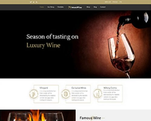 Premium Moto Theme Luxury Wine 1