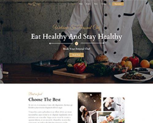 Premium Moto Theme Personal Chef 1