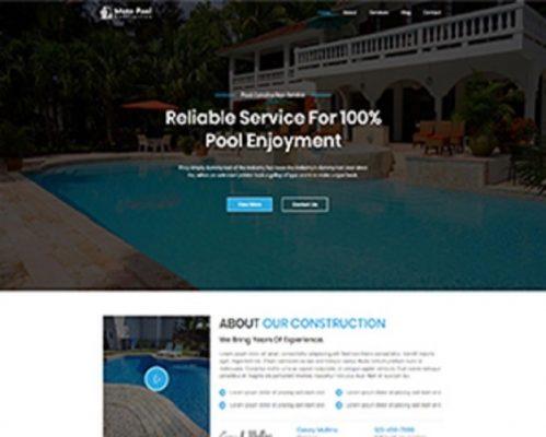 Premium Moto Theme Pool Construction