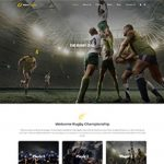 Premium Moto Theme Rugby Club