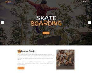 Premium Moto Theme Skateboarding