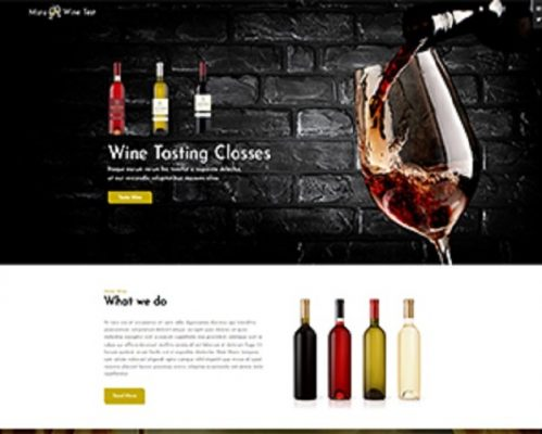 Premium Moto Theme Wine Tasting Classes