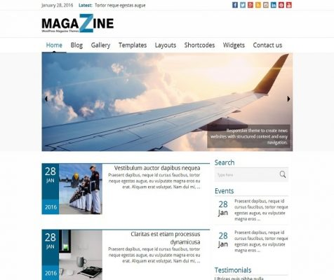 news magazine theme
